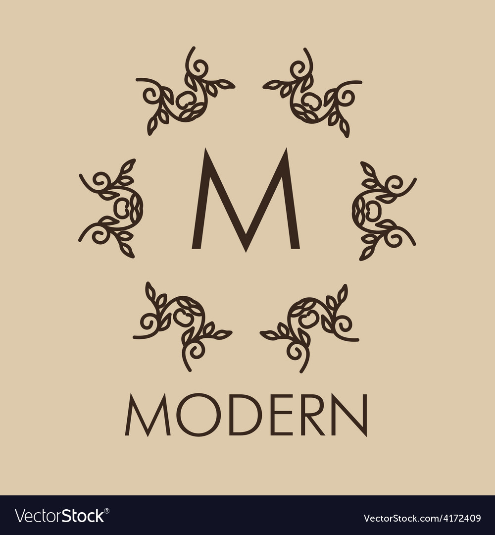 Luxurysimple and elegant monochrome monogram vector | Price: 1 Credit (USD $1)