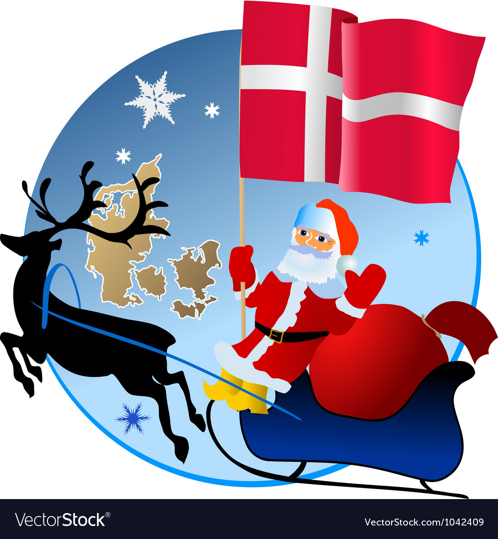 Merry christmas denmark vector | Price: 1 Credit (USD $1)