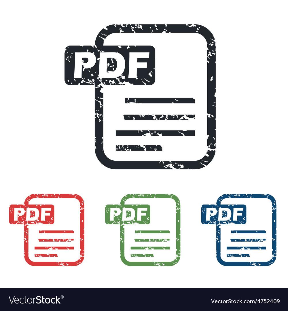 Pdf file grunge icon set vector   Price: 1 Credit (USD $1)