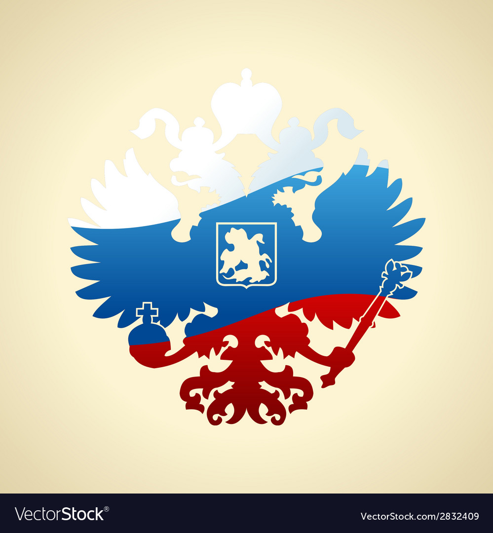 Russian coat of arms double-headed eagle symbol of vector | Price: 1 Credit (USD $1)