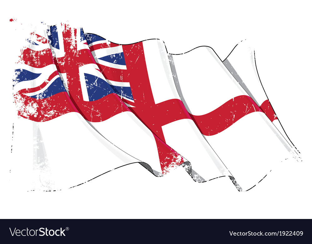 Uk naval ensign flag grunge vector | Price: 1 Credit (USD $1)