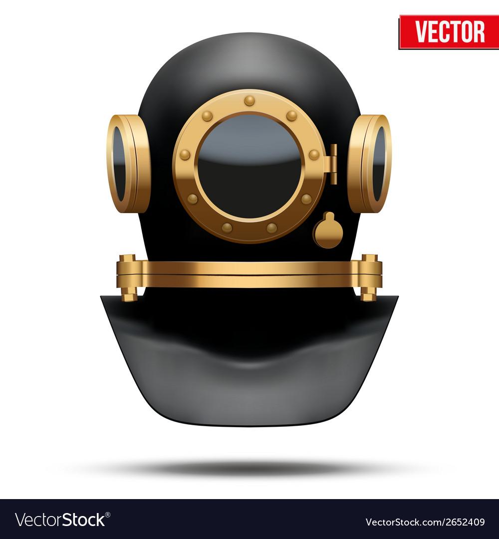 Underwater diving helmet vector   Price: 1 Credit (USD $1)