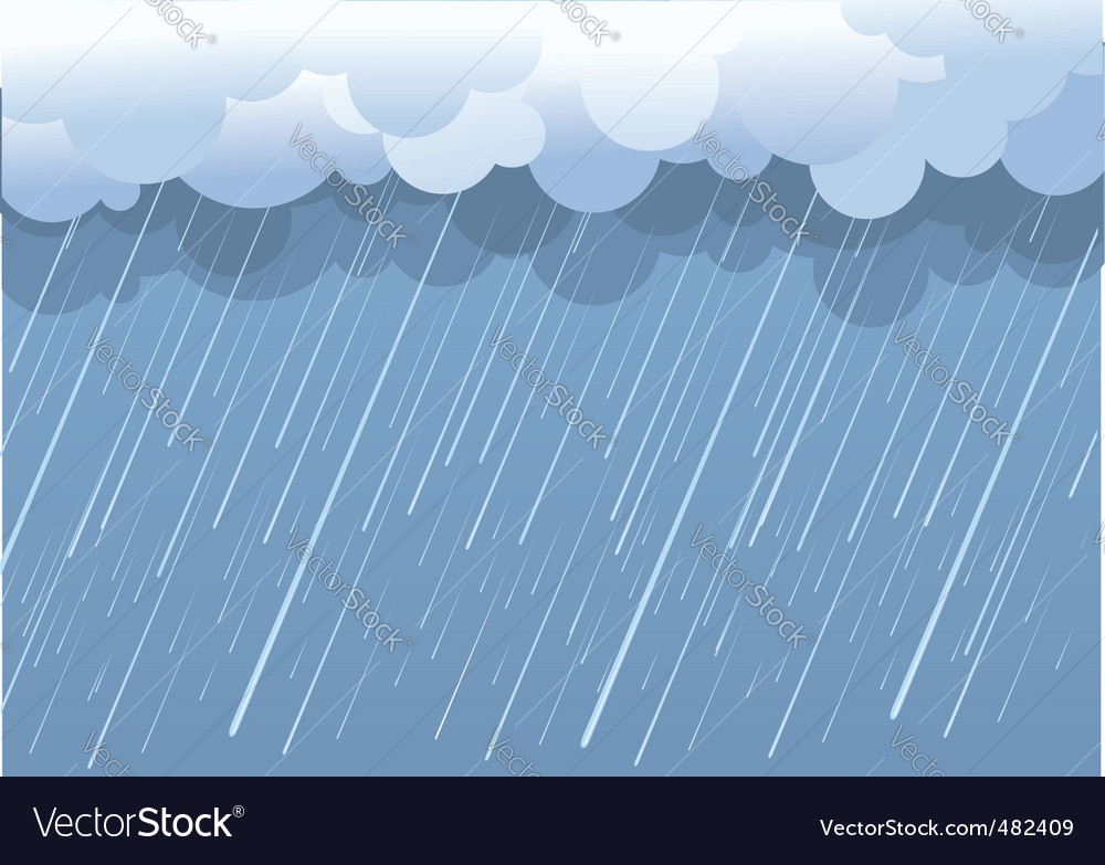 Wet day landscape vector | Price: 1 Credit (USD $1)
