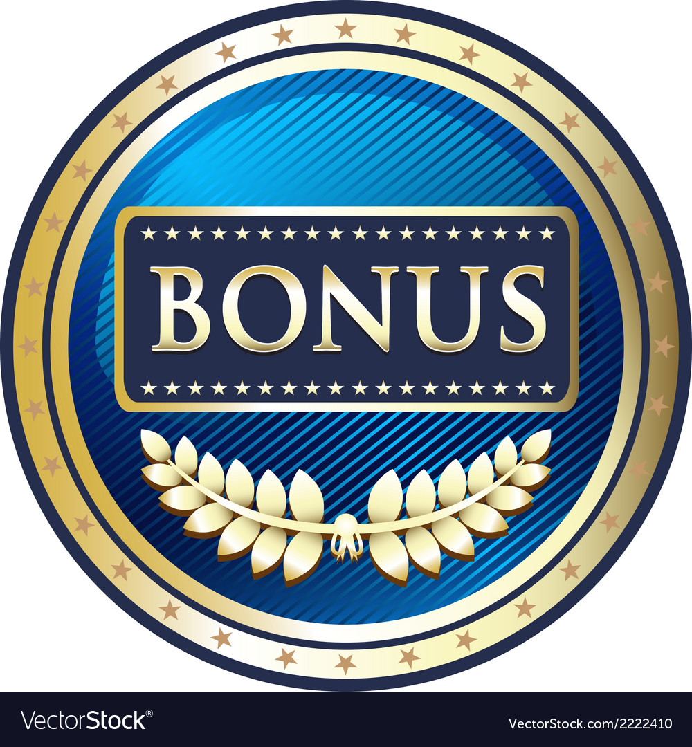 Bonus blue label vector | Price: 1 Credit (USD $1)