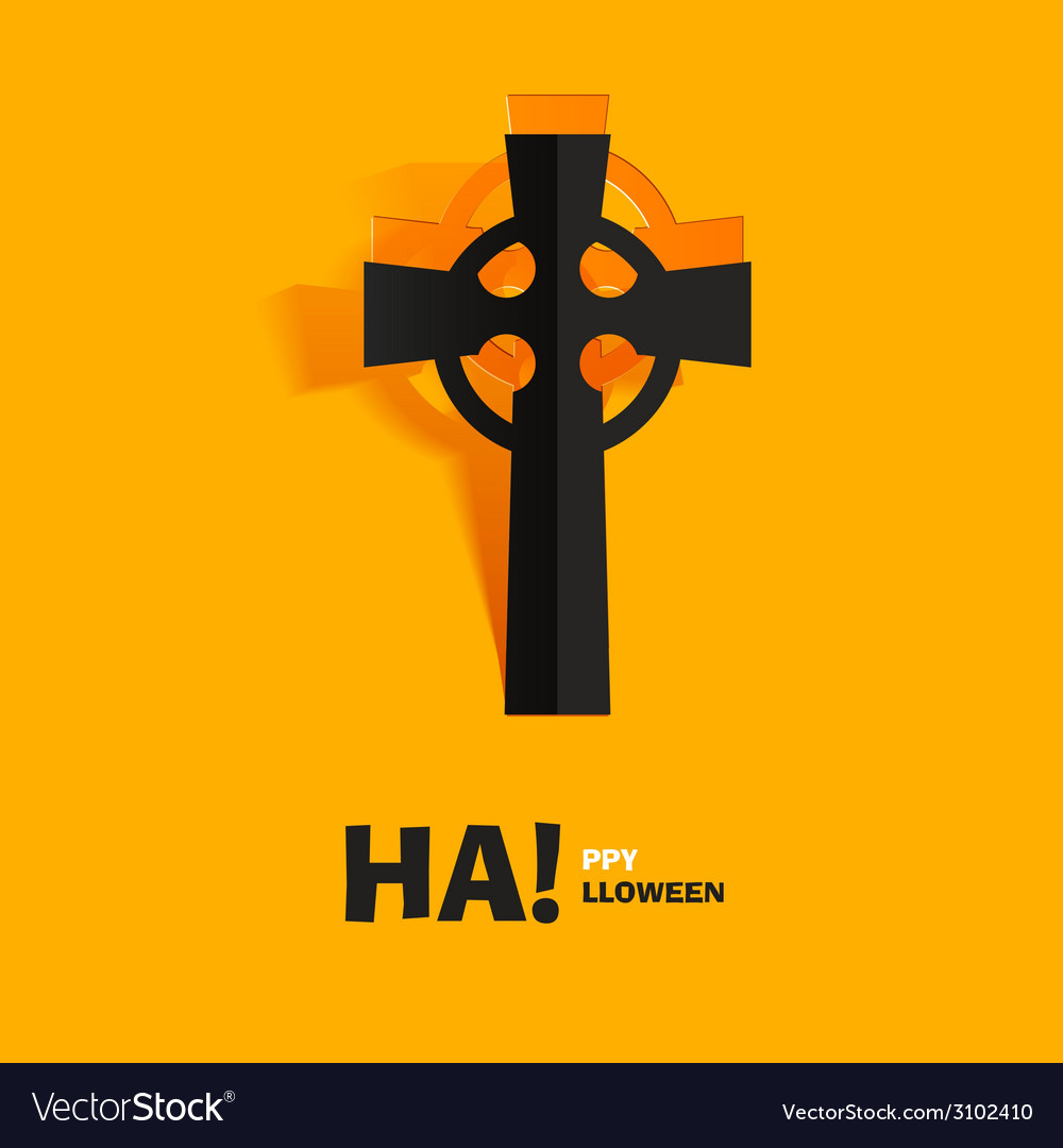 Burial tomb cross carved cut out of paper vector | Price: 1 Credit (USD $1)