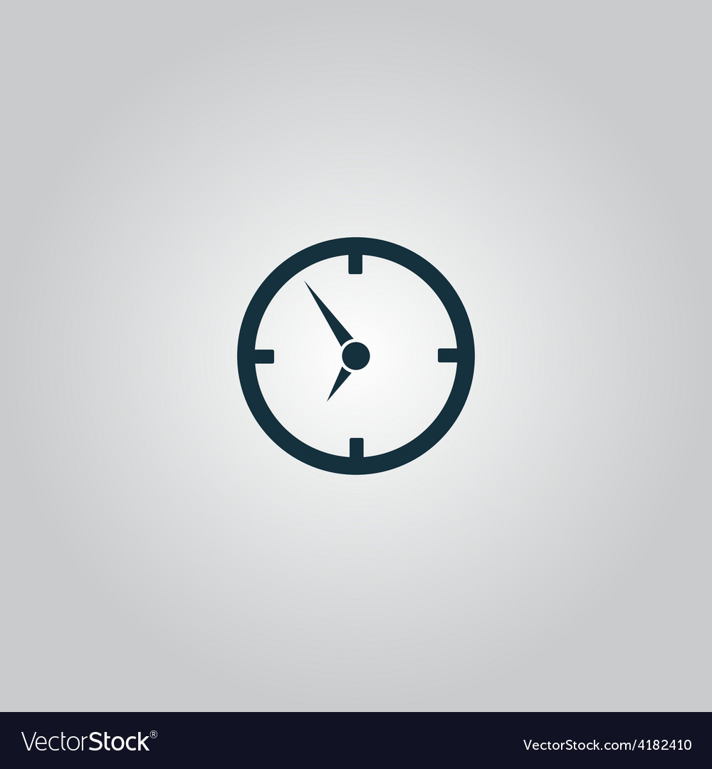 Circle clock icon vector | Price: 1 Credit (USD $1)