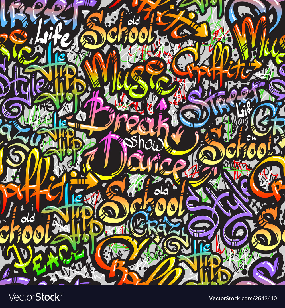 Graffiti word seamless pattern vector | Price: 1 Credit (USD $1)