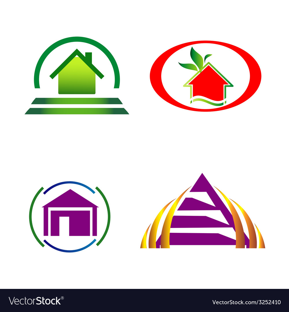 House and construction icons logo vector