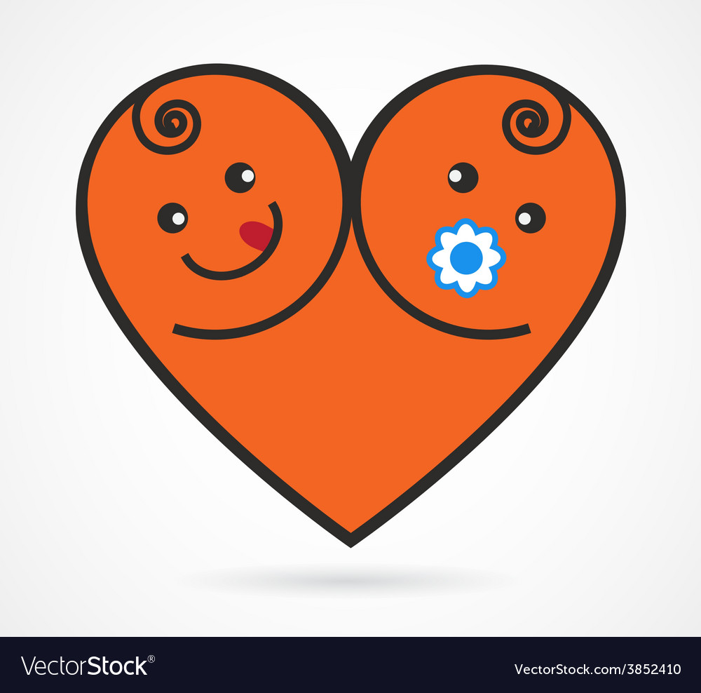 Image of smiling baby boy and girl vector | Price: 1 Credit (USD $1)