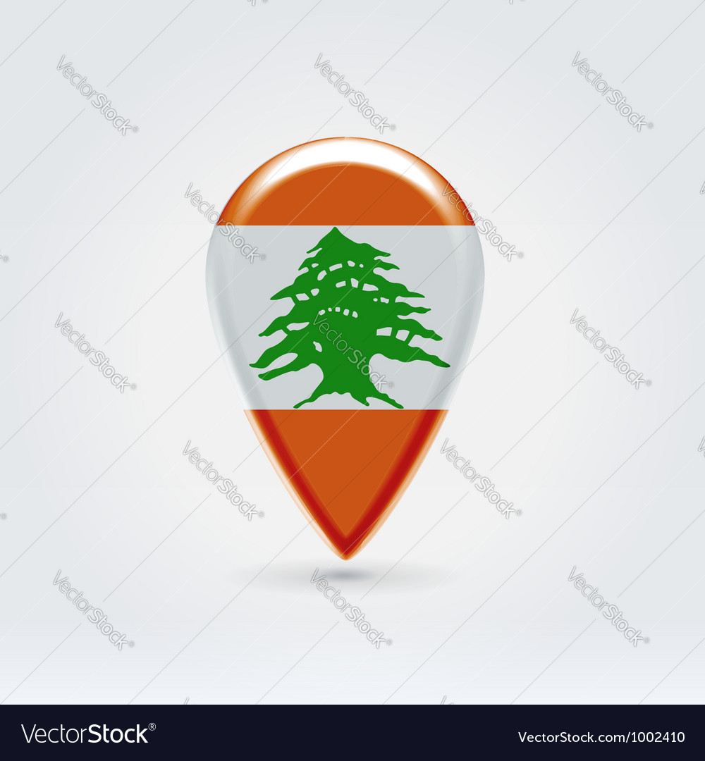 Lebanon icon point for map vector | Price: 1 Credit (USD $1)