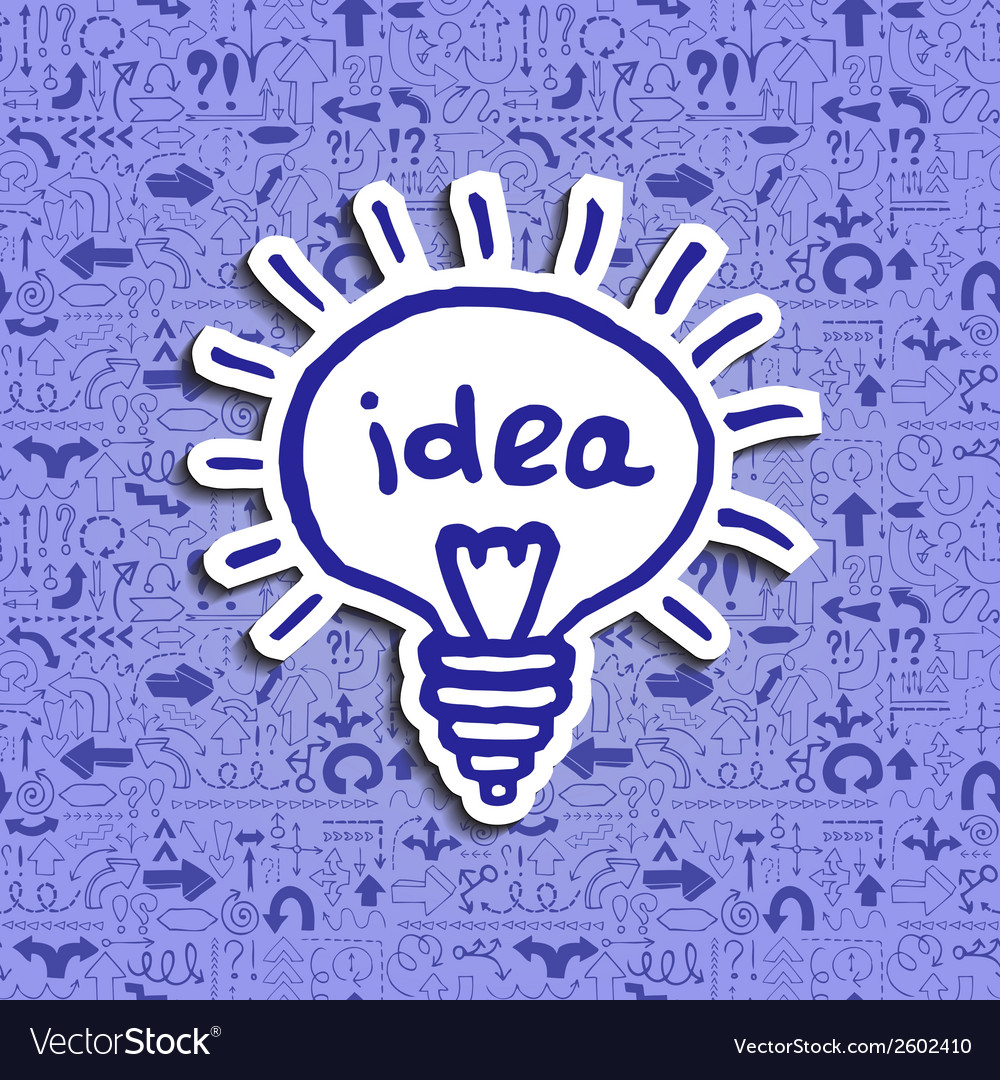 Light bulb icon on arrow filled background vector   Price: 1 Credit (USD $1)