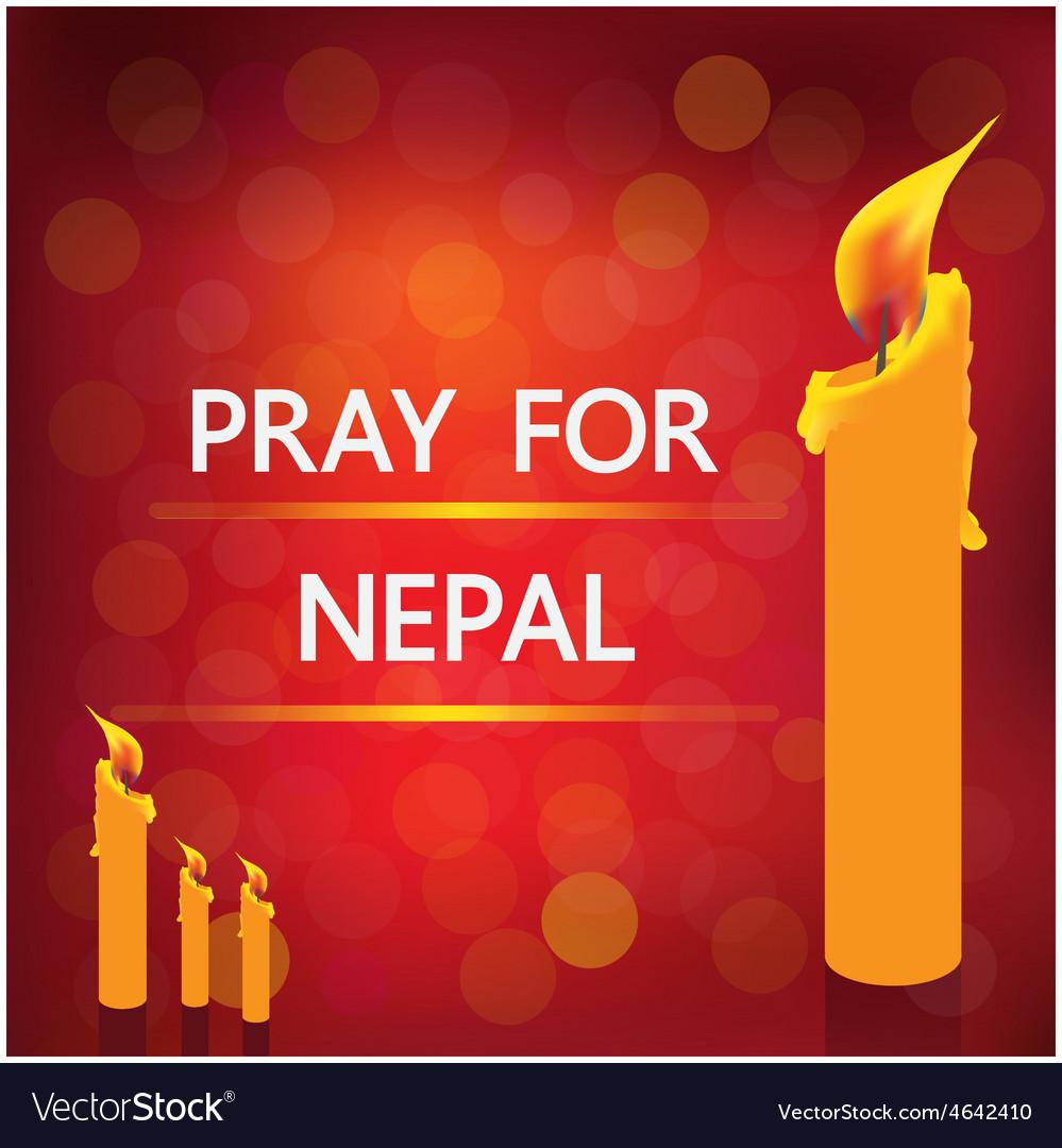 Pray nepal vector | Price: 1 Credit (USD $1)