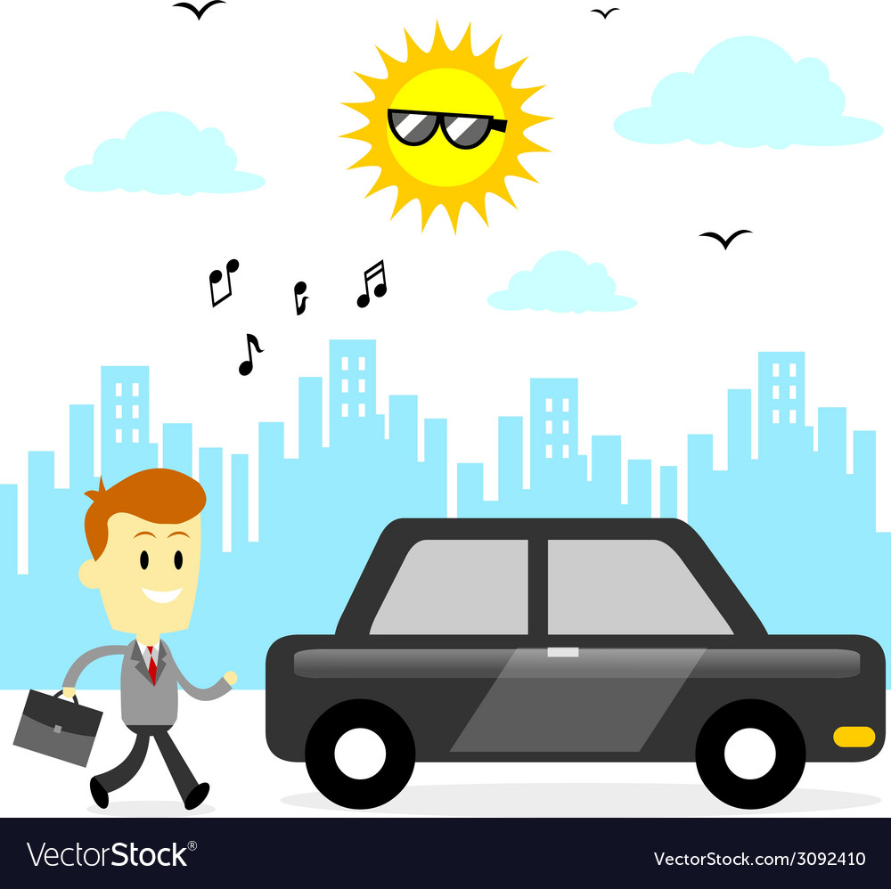 Ready to go to office vector   Price: 1 Credit (USD $1)