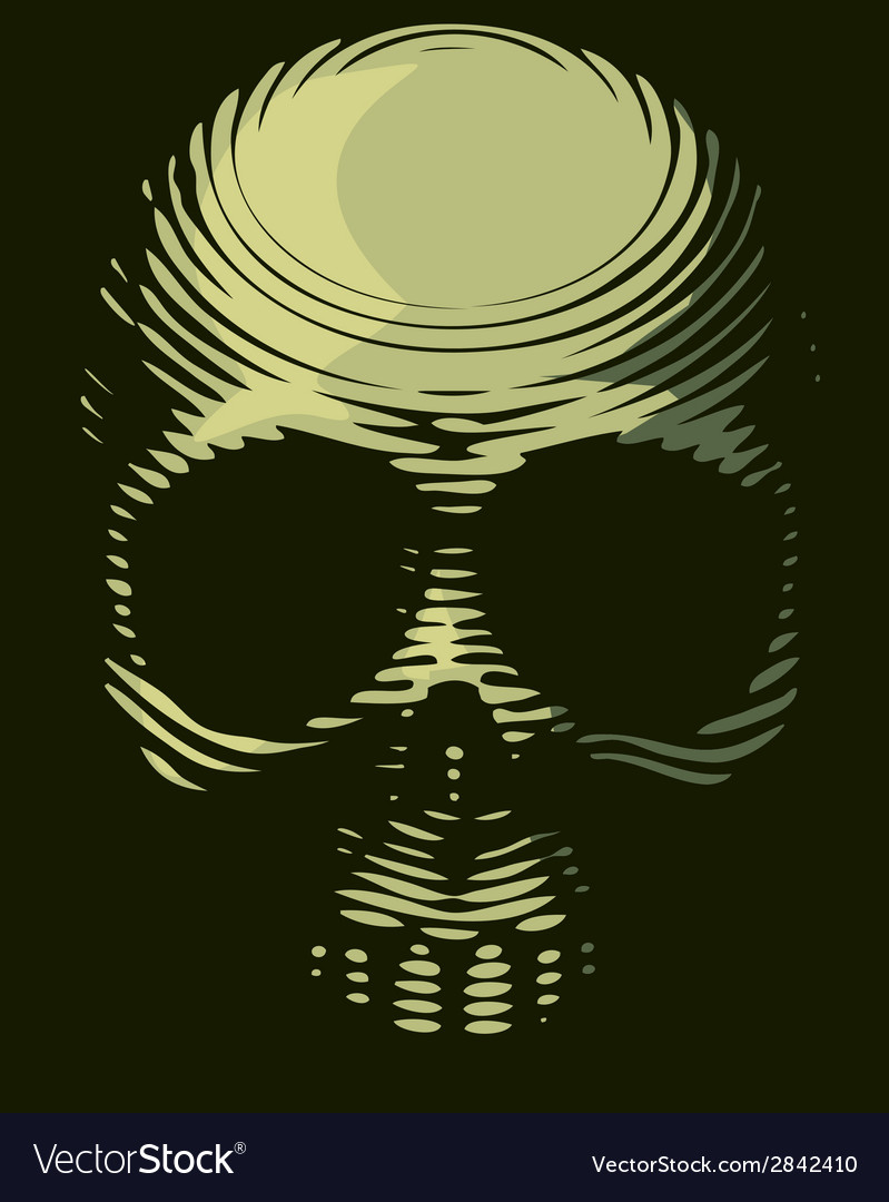 Skull engraving imitation vector | Price: 1 Credit (USD $1)