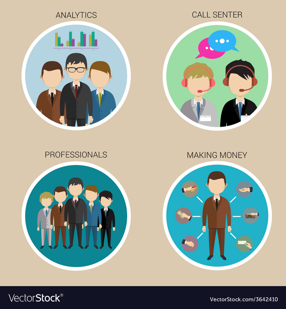 Variety human resource icons vector | Price: 1 Credit (USD $1)
