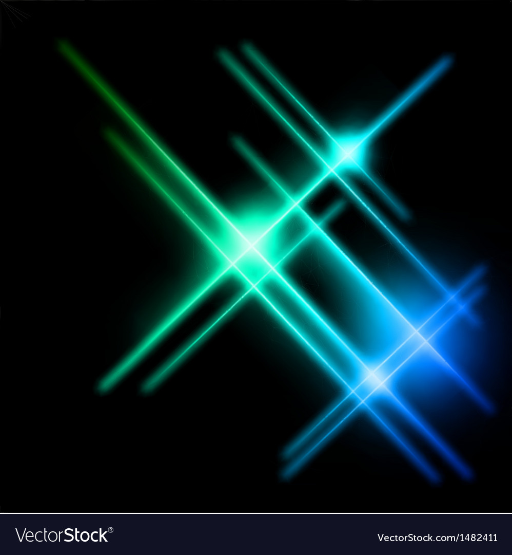 Abstract cyan and blue rays lights vector | Price: 1 Credit (USD $1)