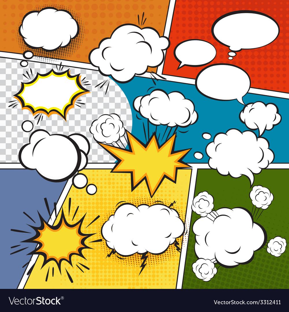Comic set bubbles vector | Price: 1 Credit (USD $1)