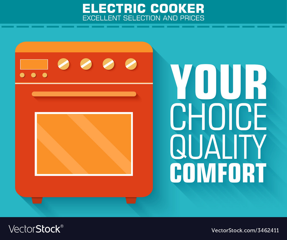 Flat gas stove with the slogan on the background vector | Price: 1 Credit (USD $1)
