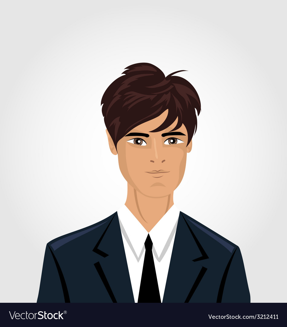 Front face portrait avatar office employee in vector | Price: 1 Credit (USD $1)