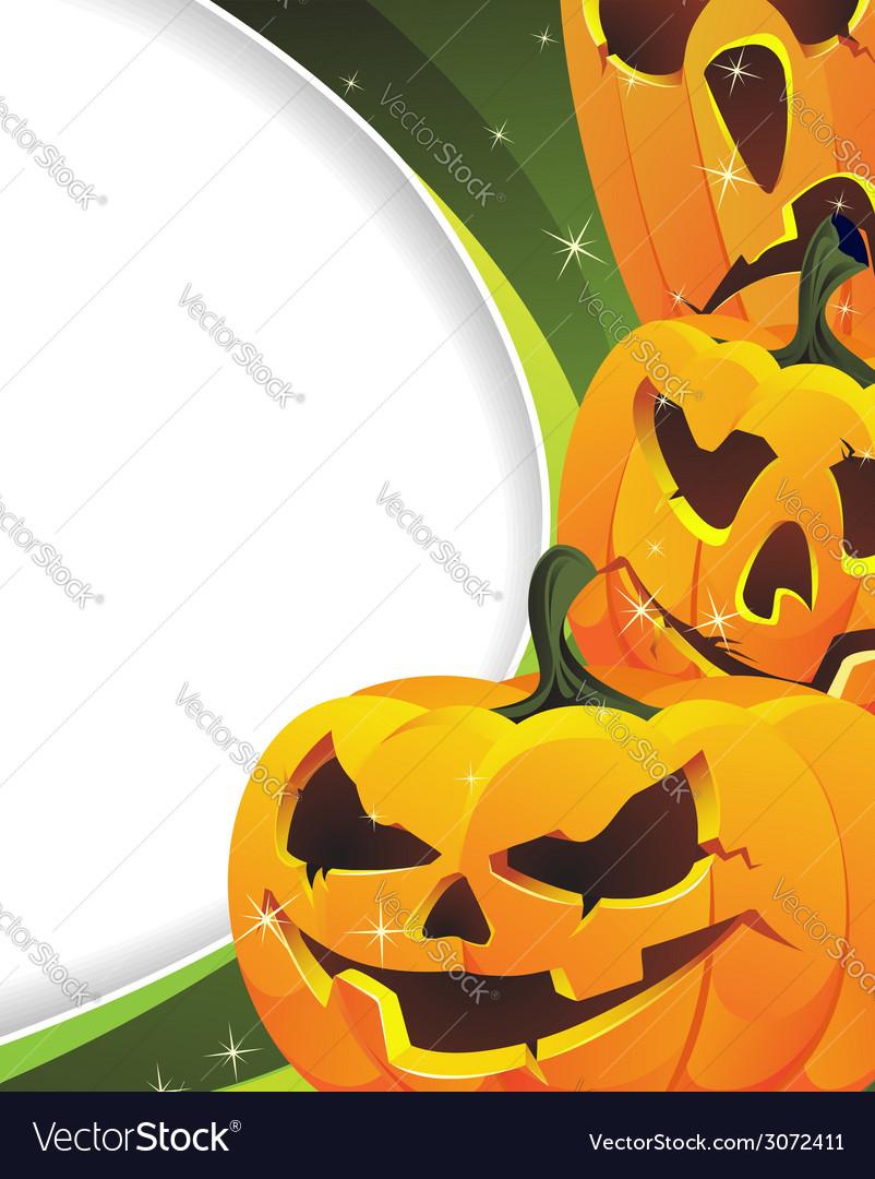 Green sparkling halloween background vector | Price: 1 Credit (USD $1)