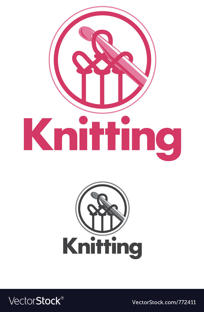Knitting logo vector | Price: 3 Credit (USD $3)