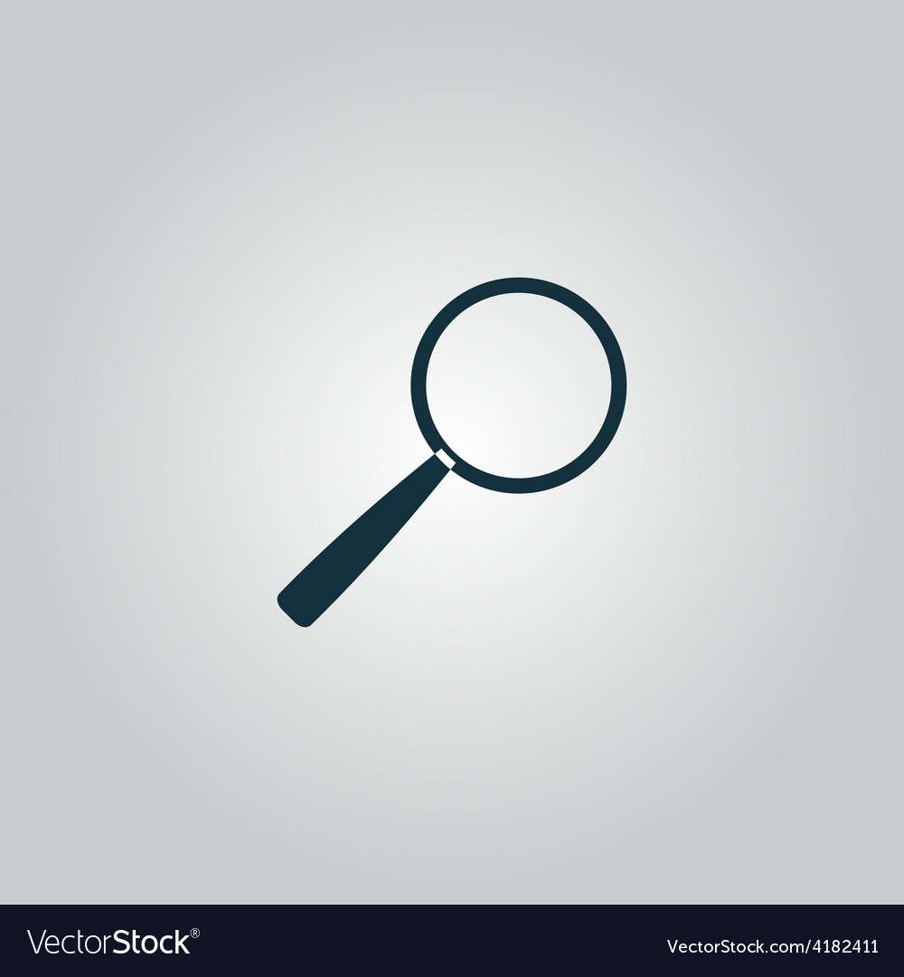 Magnifying glass search icon vector | Price: 1 Credit (USD $1)