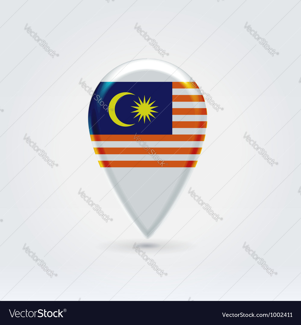 Malaysian icon point for map vector | Price: 1 Credit (USD $1)