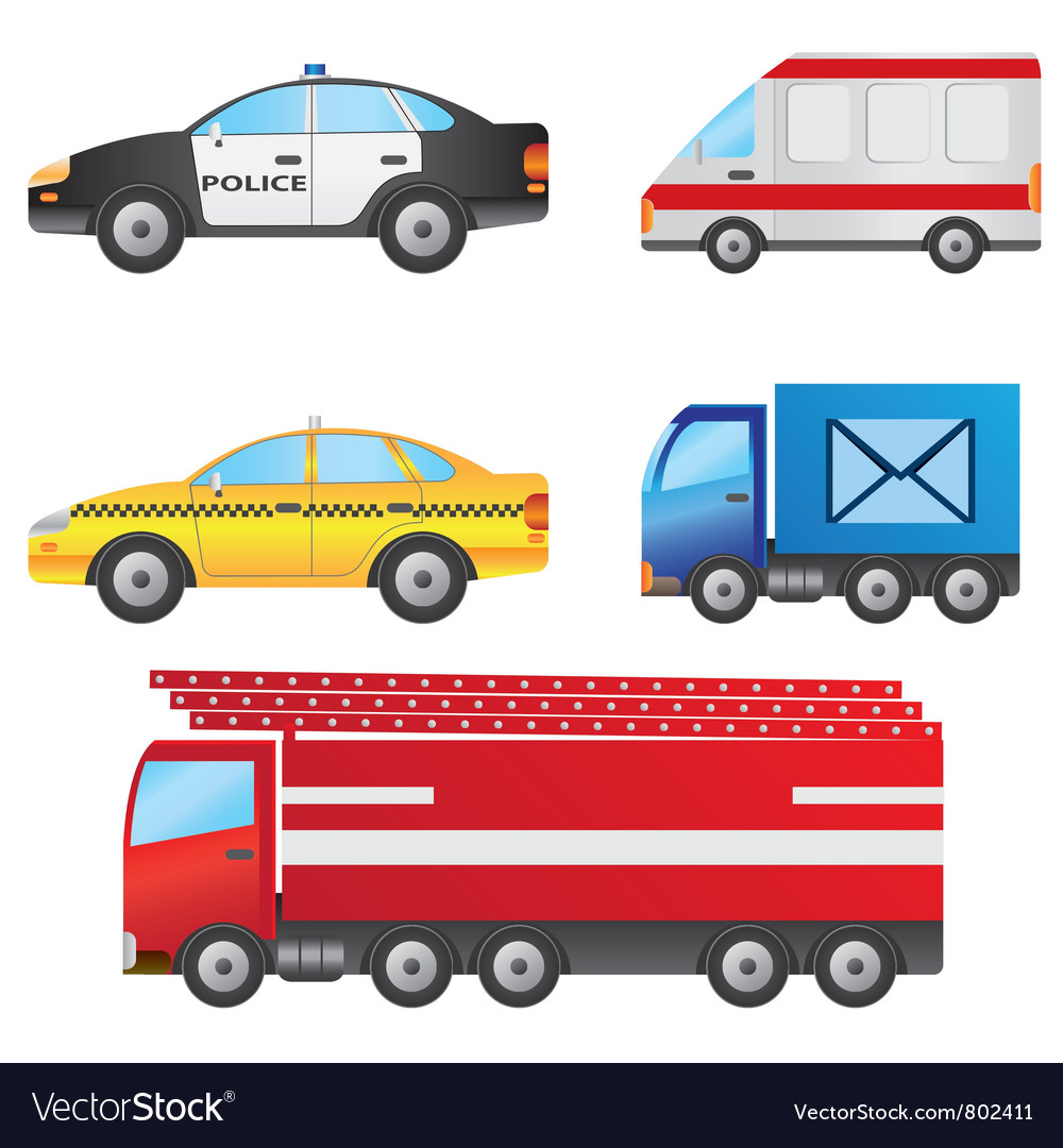 Set of different types of cars vector | Price: 3 Credit (USD $3)