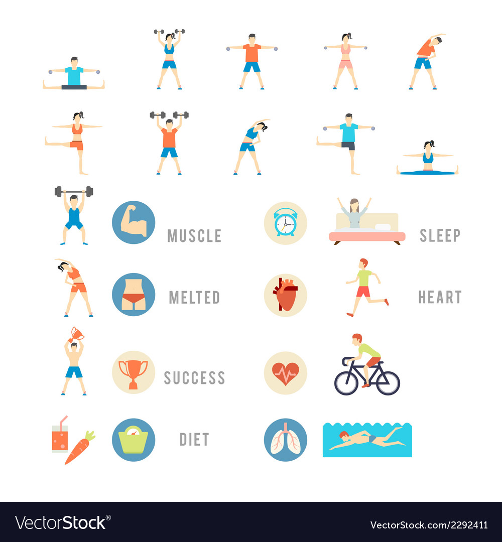 Sports and health people vector | Price: 1 Credit (USD $1)