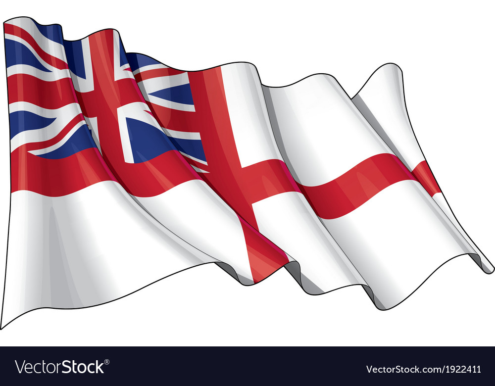 Uk naval ensign flag vector | Price: 1 Credit (USD $1)