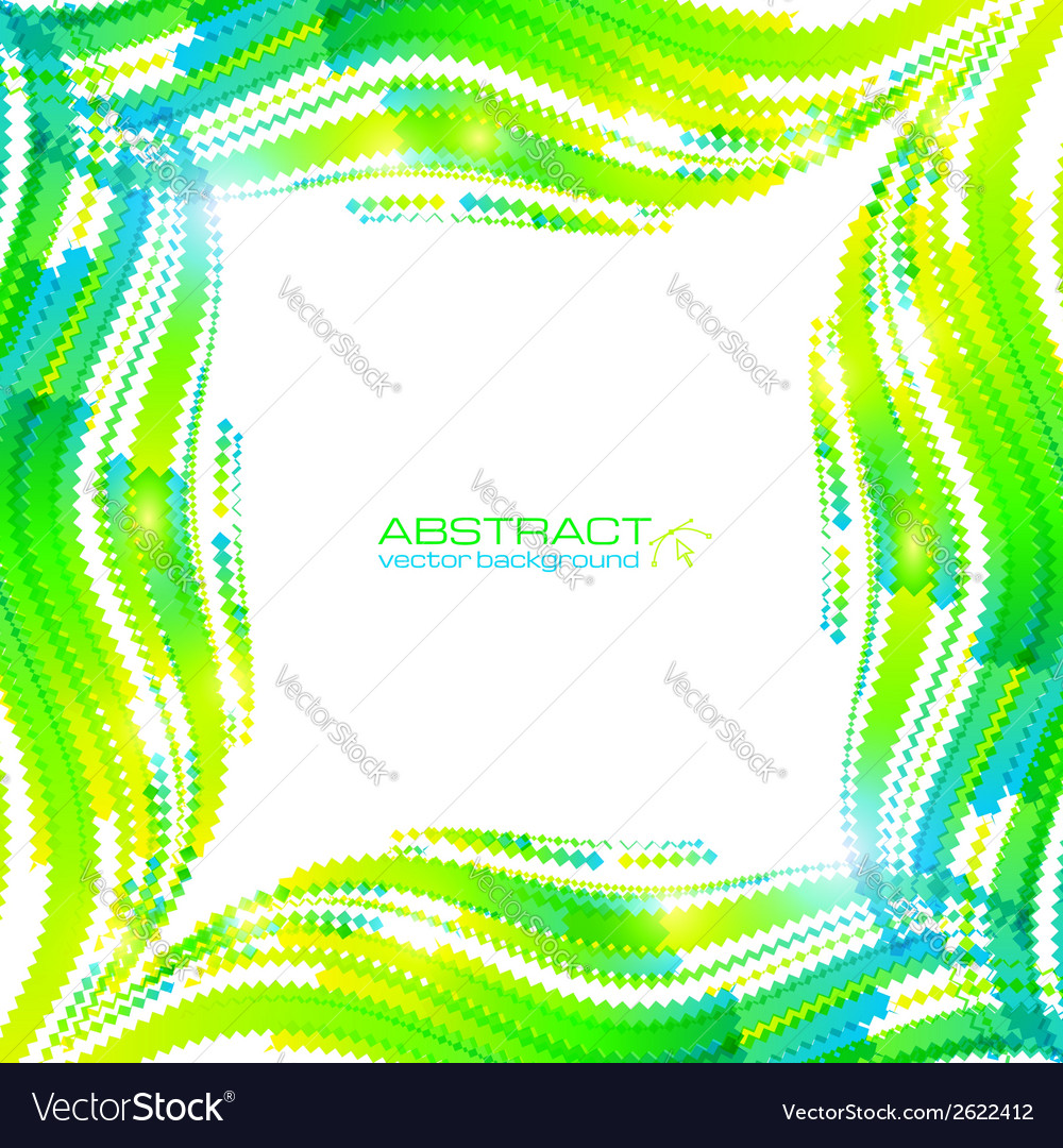 Abstract green wave ripples frame vector | Price: 1 Credit (USD $1)