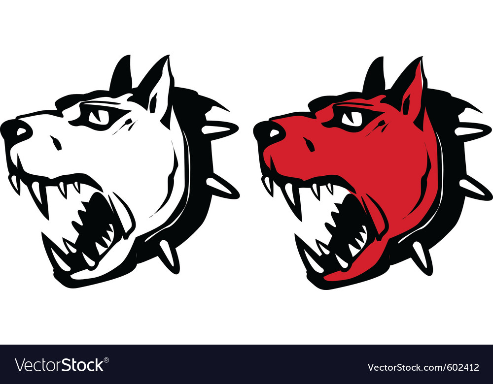 Angry dog vector | Price: 1 Credit (USD $1)