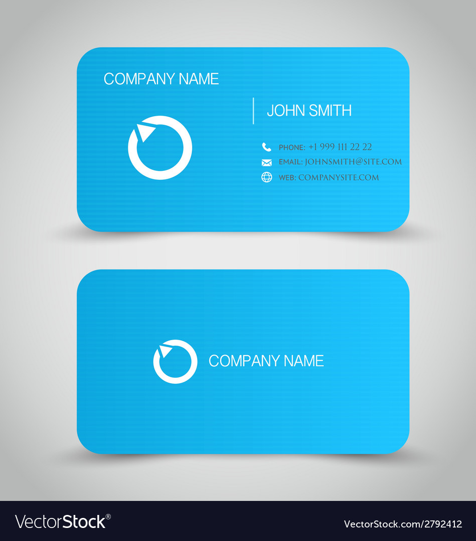 Business card set template blue color vector | Price: 1 Credit (USD $1)