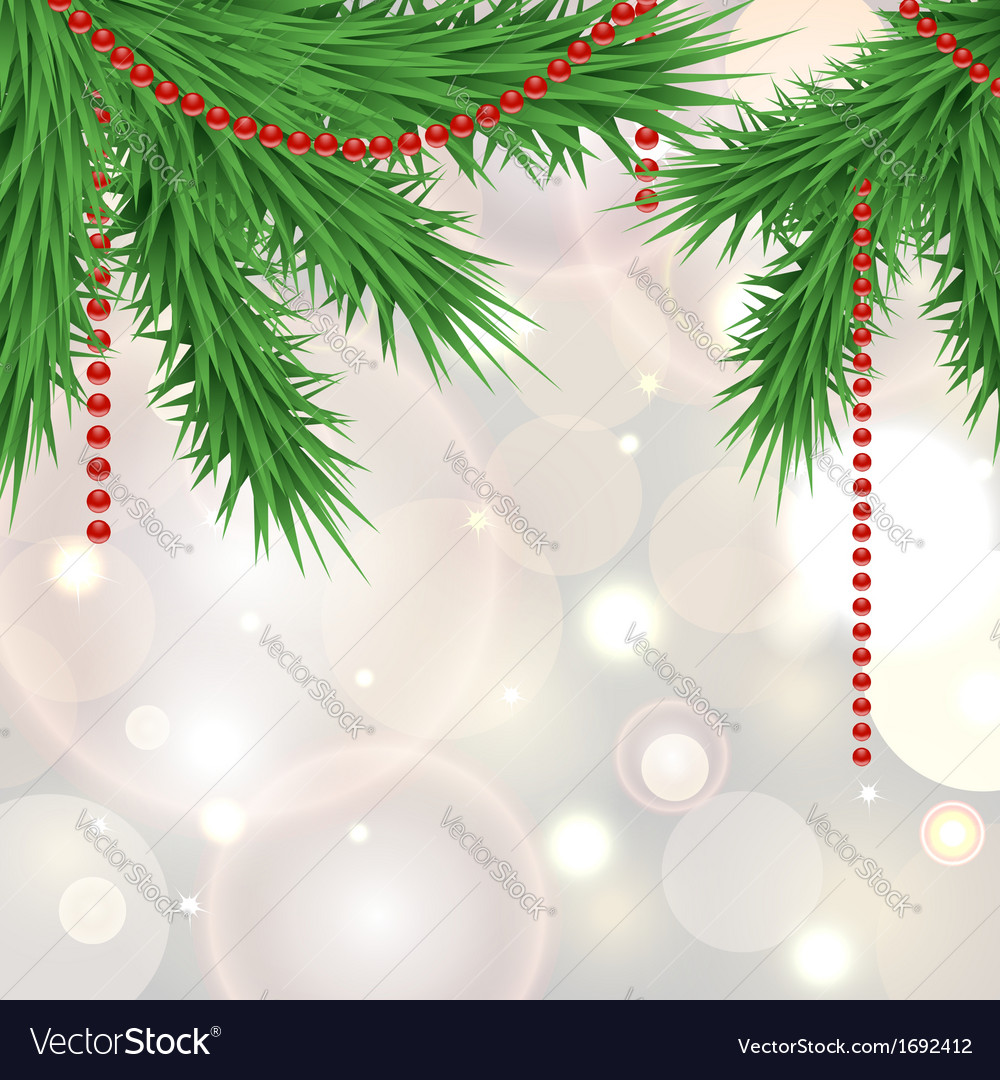 Christmas sparkling background with christmas tree vector | Price: 1 Credit (USD $1)