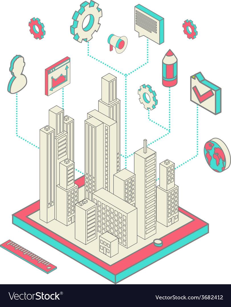 City app vector | Price: 1 Credit (USD $1)