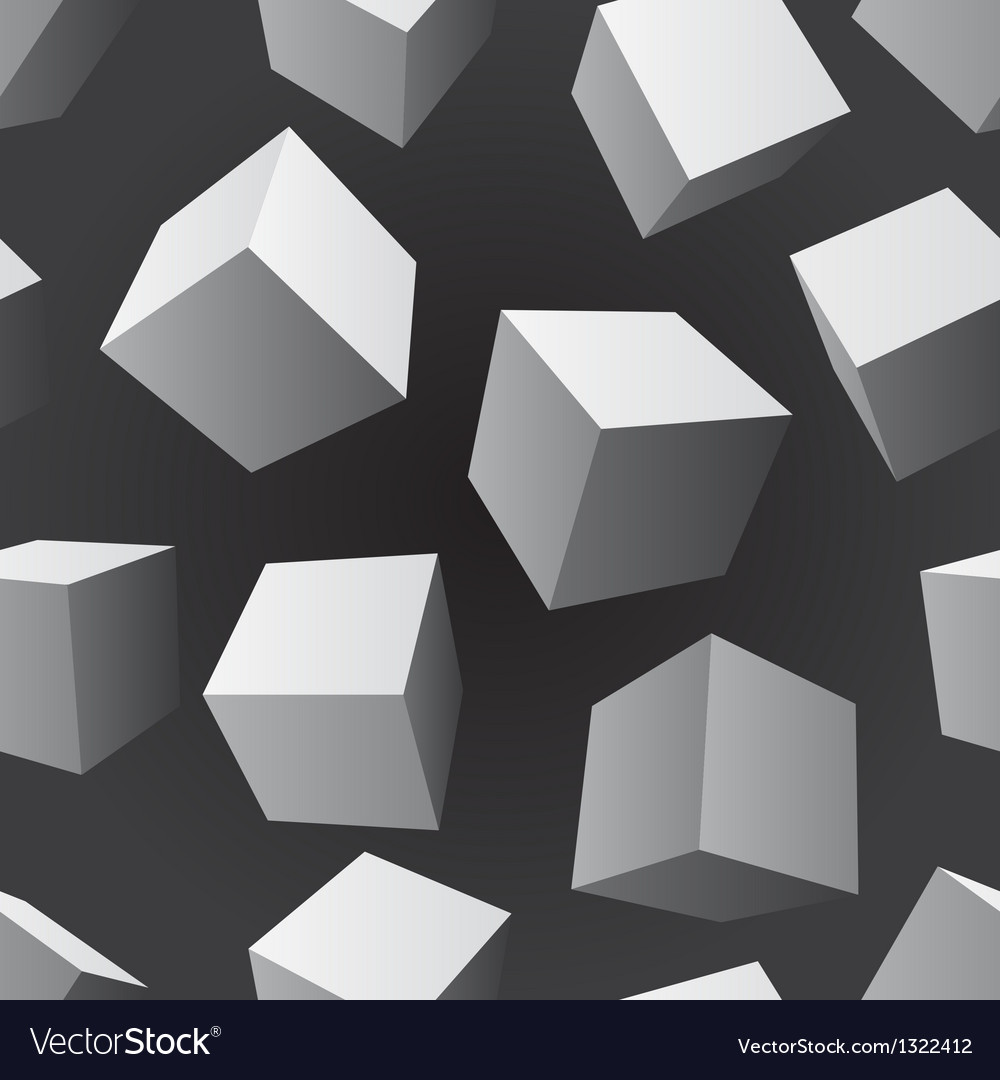 Floating cubes seamless pattern vector | Price: 1 Credit (USD $1)