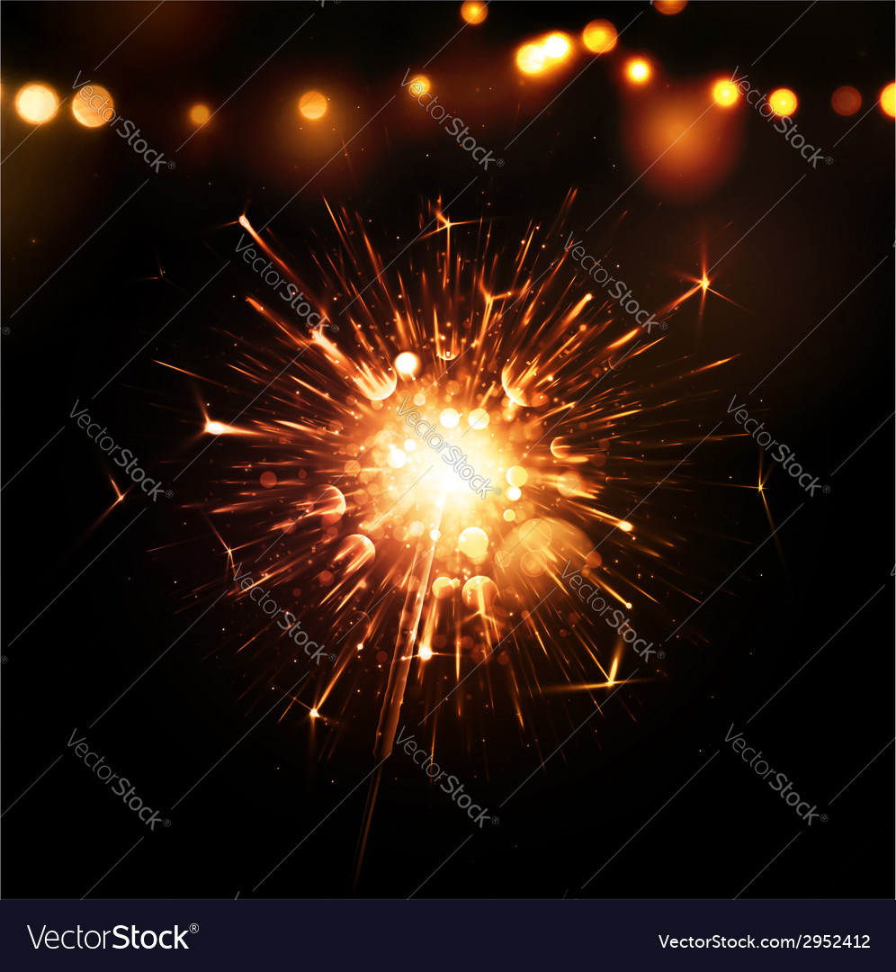 Holiday background with sparkler vector | Price: 1 Credit (USD $1)