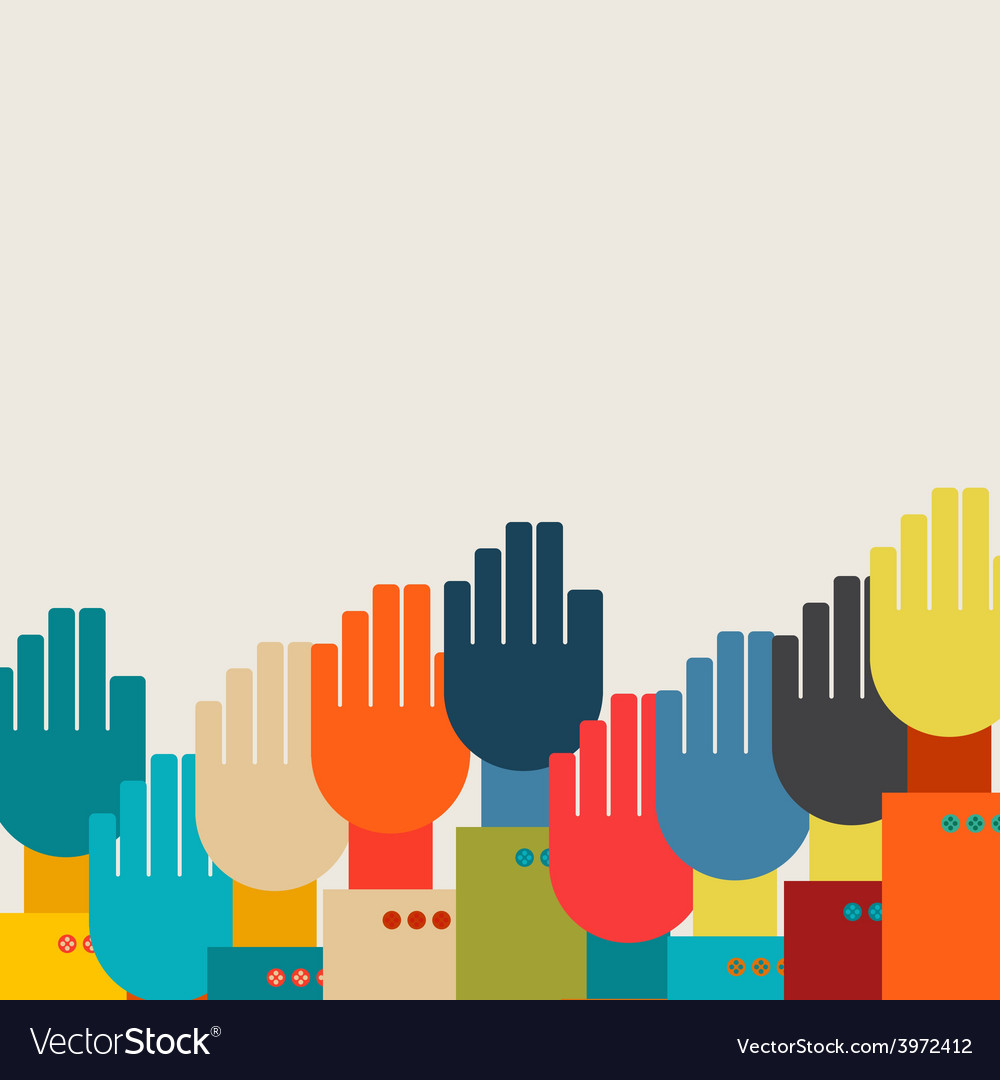Many hands vector | Price: 1 Credit (USD $1)