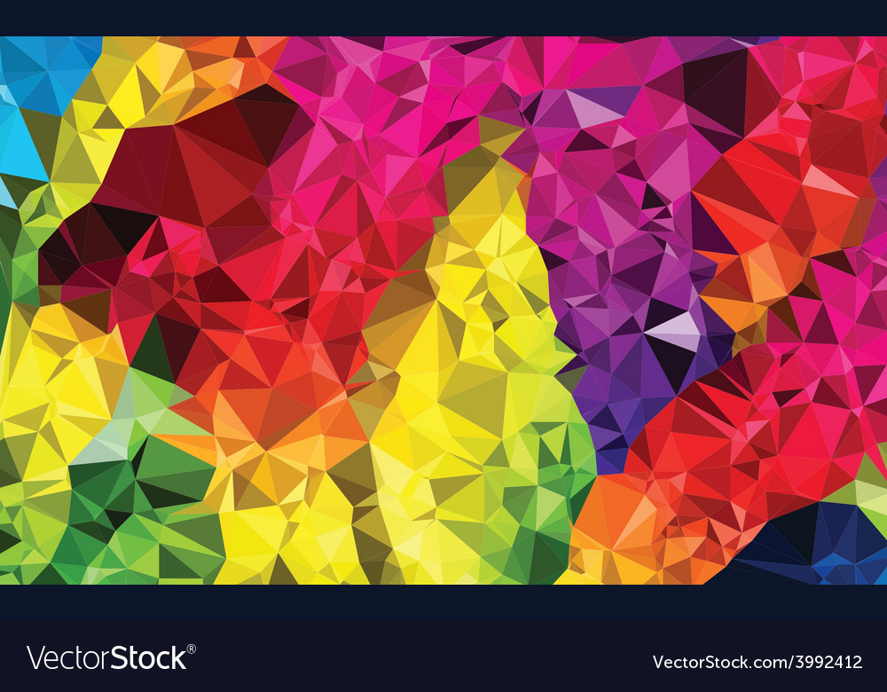 Polygonal mosaic background vector   Price: 1 Credit (USD $1)