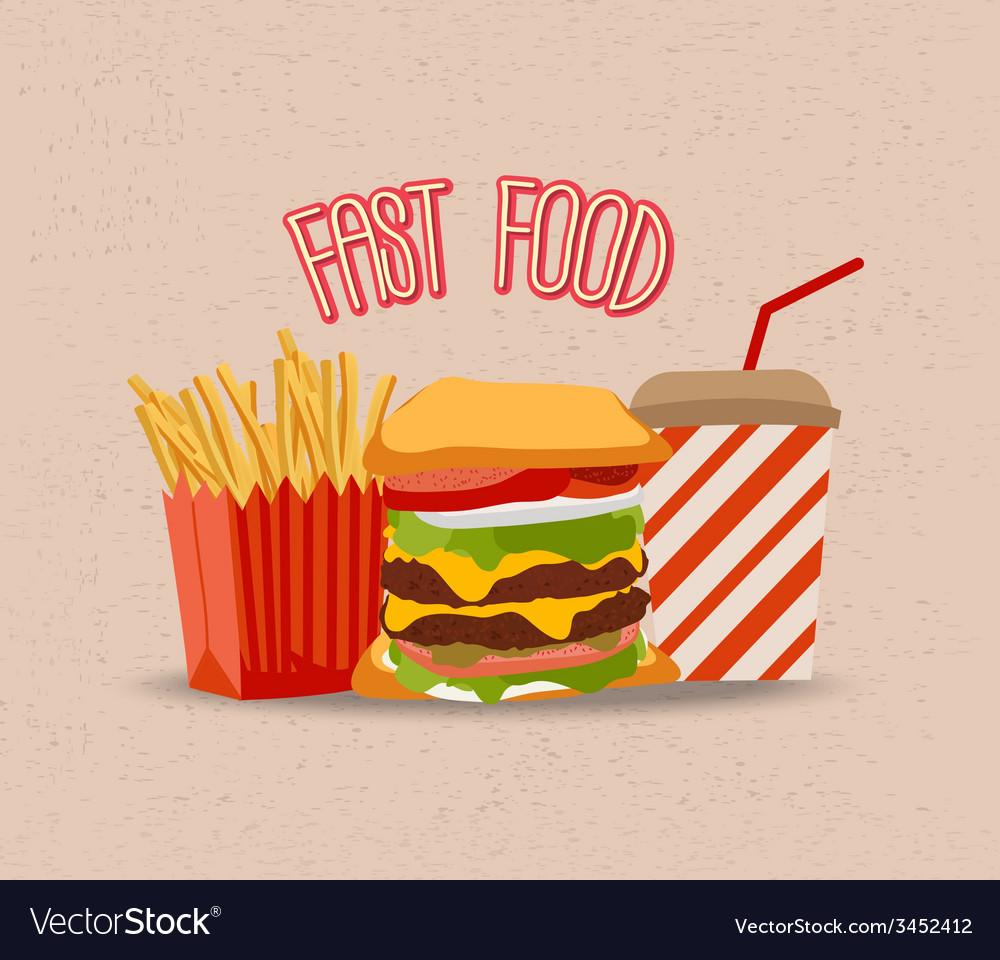 Set of hamburger vector