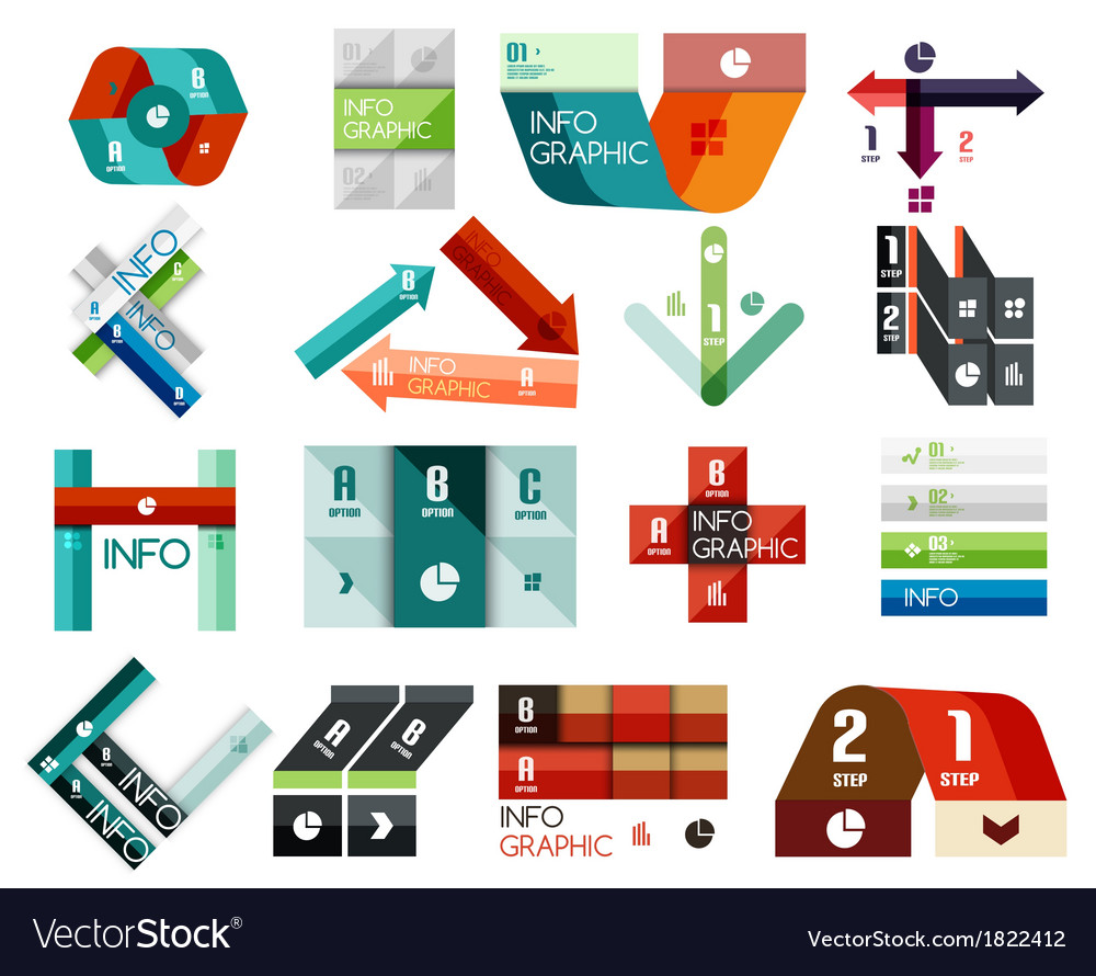 Set of option infographics templates vector | Price: 1 Credit (USD $1)