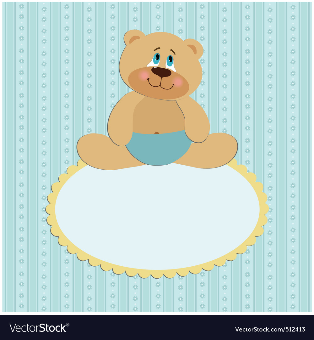 Baby greetings card vector | Price: 1 Credit (USD $1)