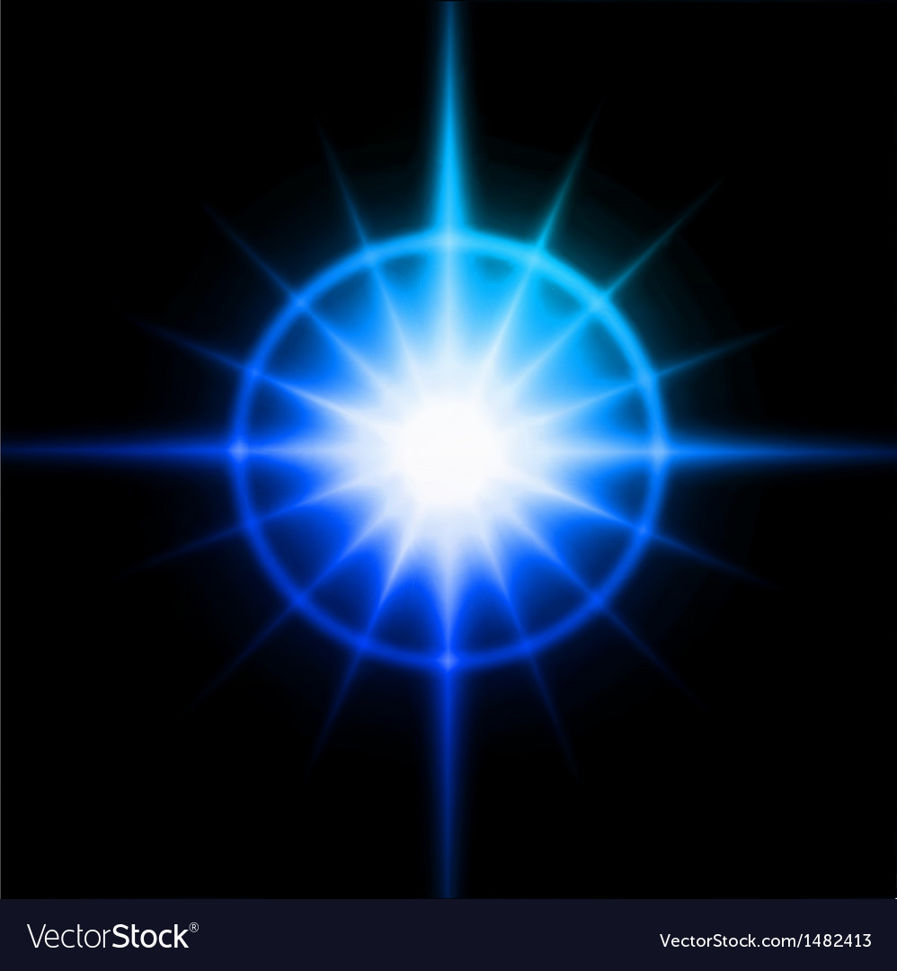 Blue luminous star lens flare effect vector | Price: 1 Credit (USD $1)