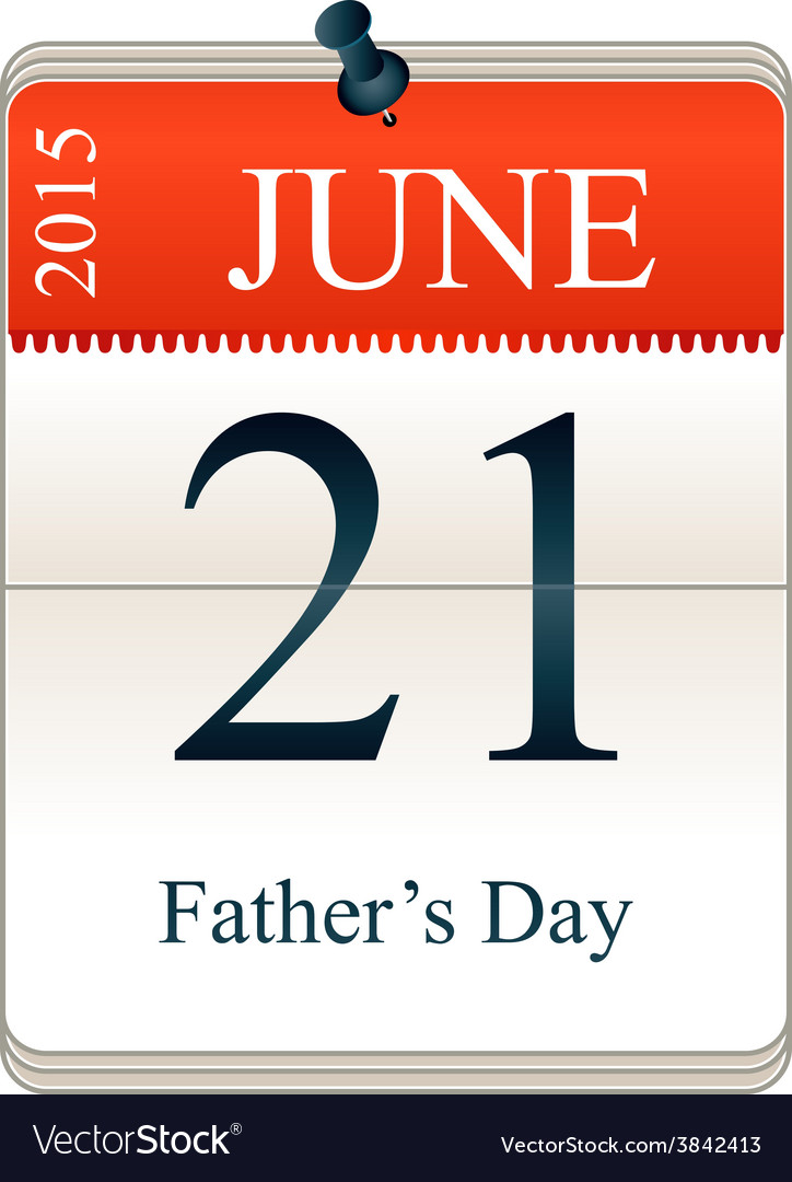 Calendar of fathers day vector | Price: 1 Credit (USD $1)