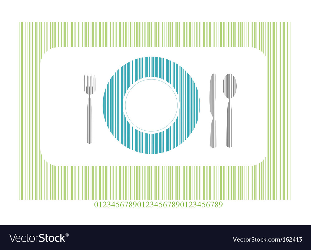 Dinner setting vector | Price: 1 Credit (USD $1)