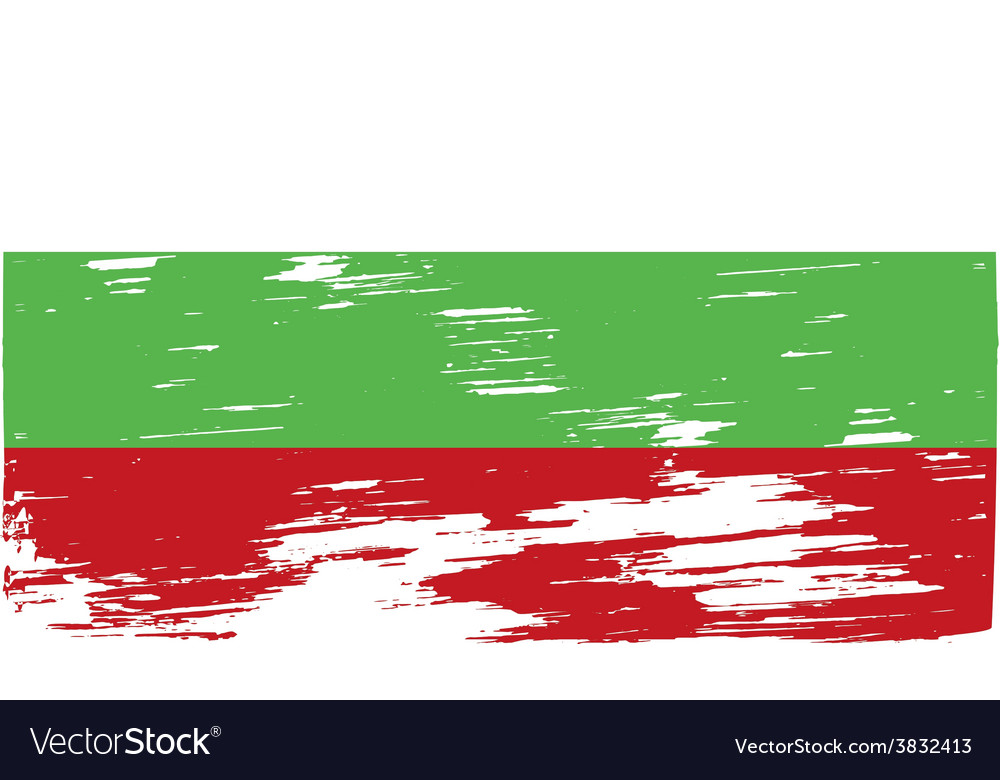 Flag of bulgaria with old texture vector | Price: 1 Credit (USD $1)