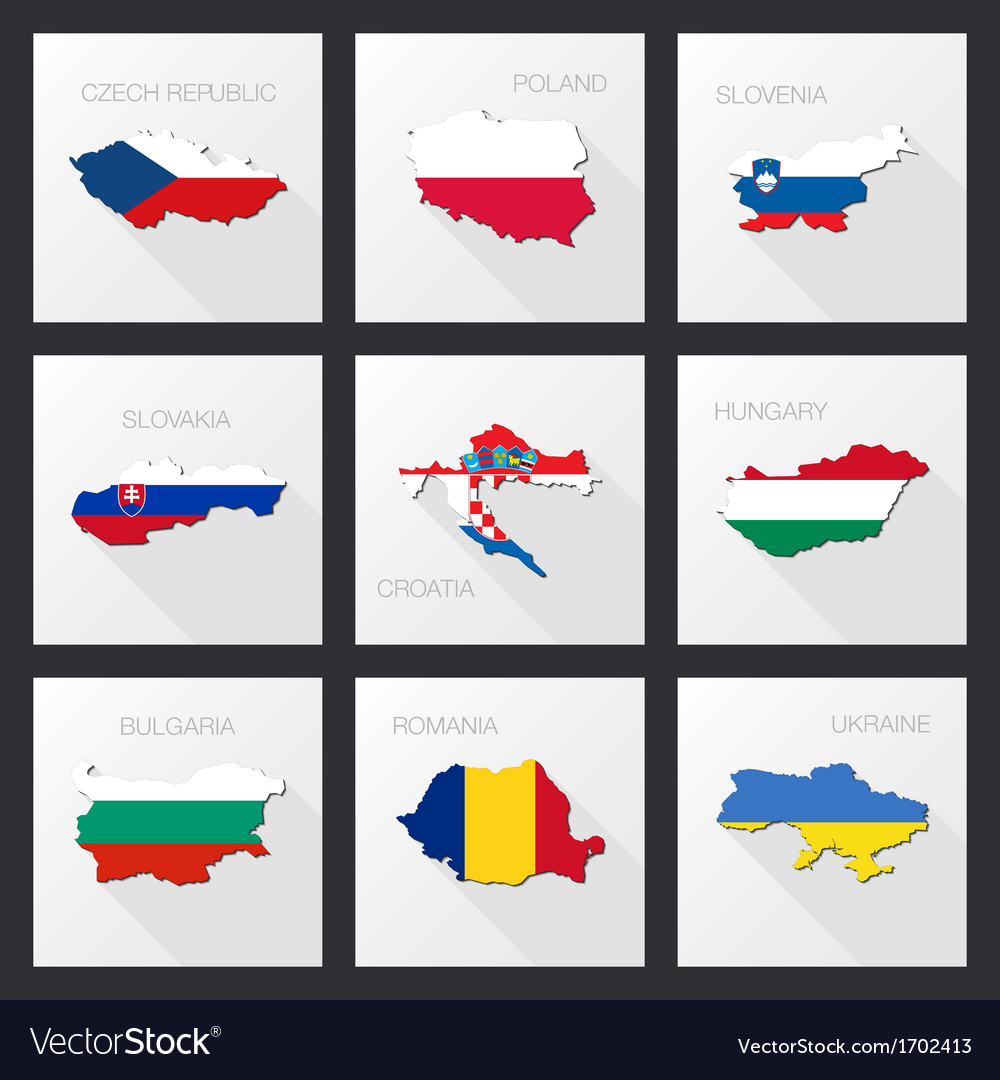 Flat icons - flags of world countries vector | Price: 1 Credit (USD $1)
