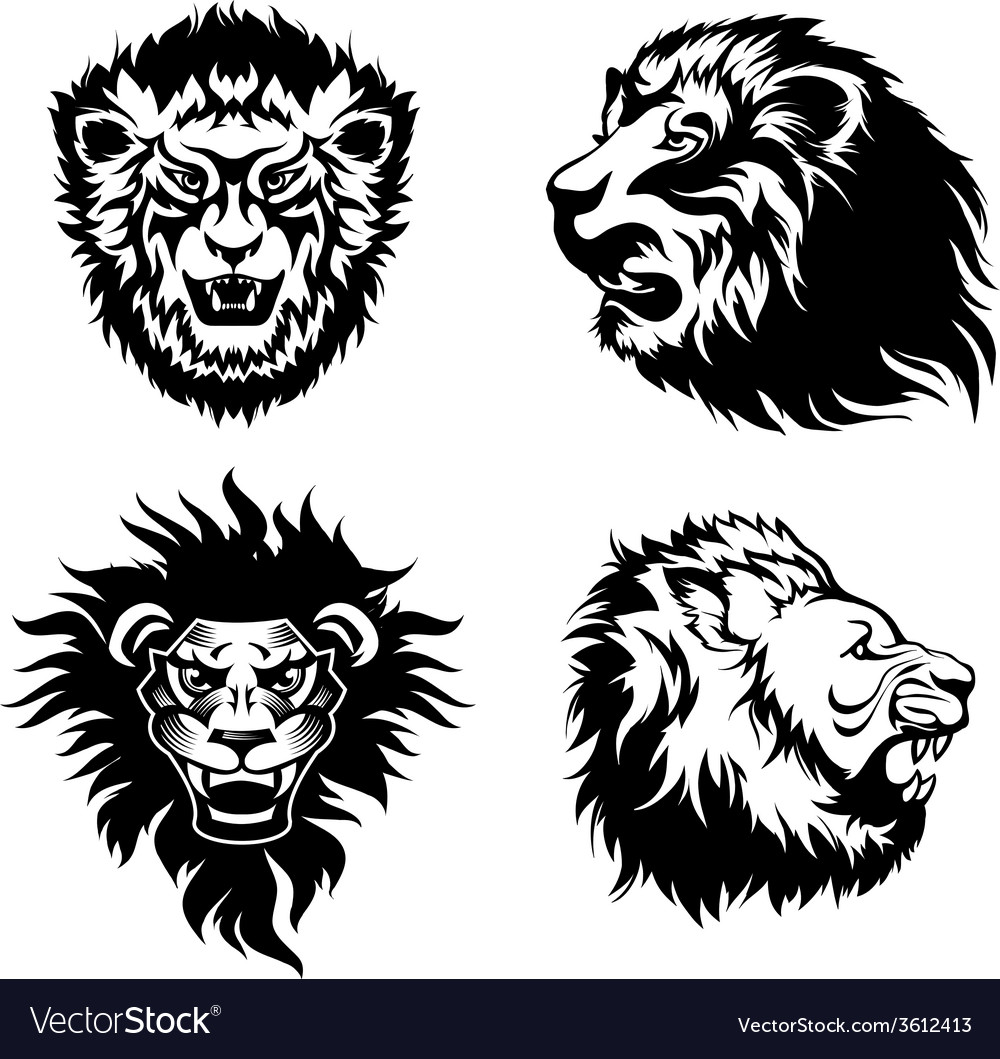 Growling lion tattoo vector | Price: 1 Credit (USD $1)