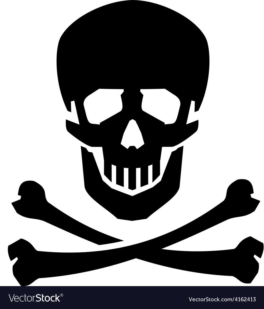 Jolly roger logo design template human vector | Price: 1 Credit (USD $1)