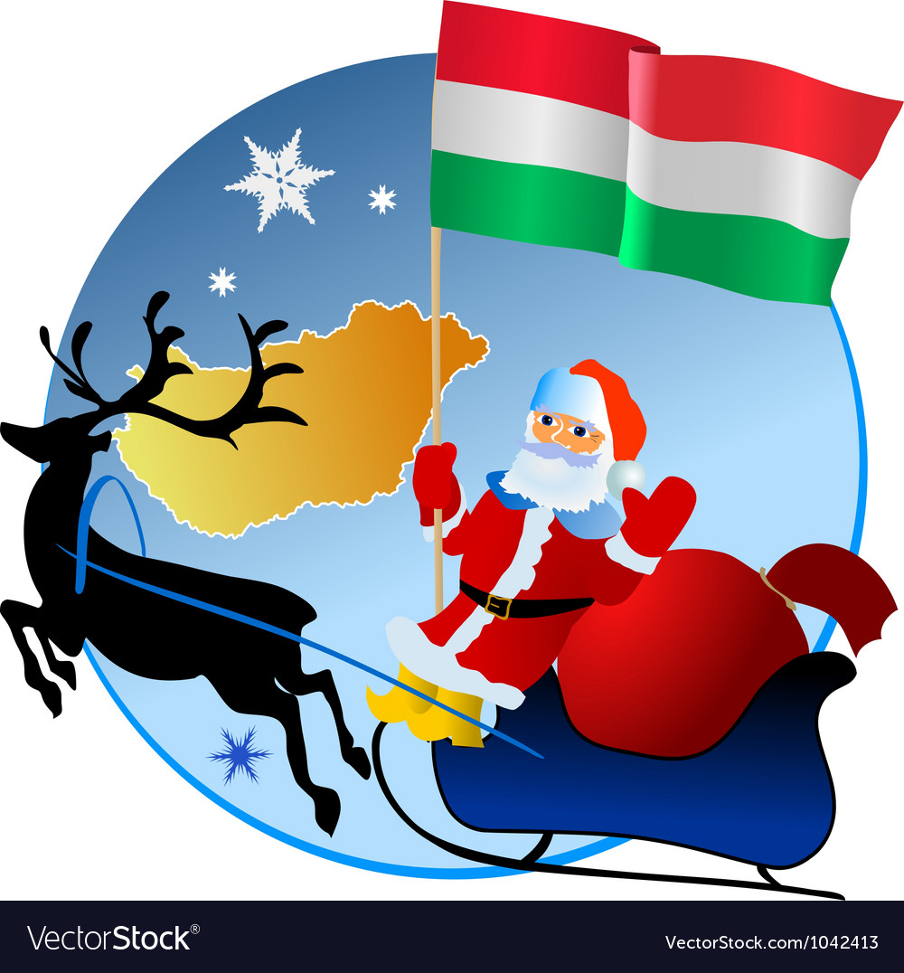 Merry christmas hungary vector | Price: 1 Credit (USD $1)